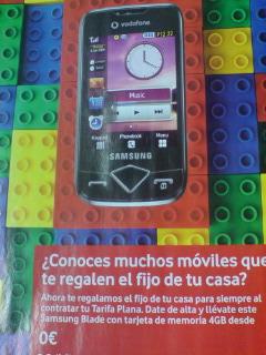 スペインの雑誌にもサムスンのケータイ