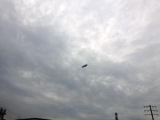 名古屋駅上空に飛行船飛来