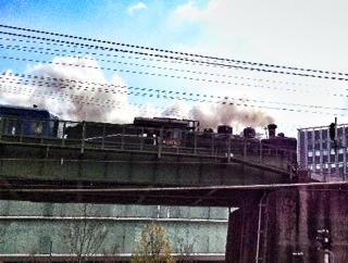 名古屋に蒸気機関車C56<br />  がやってきた