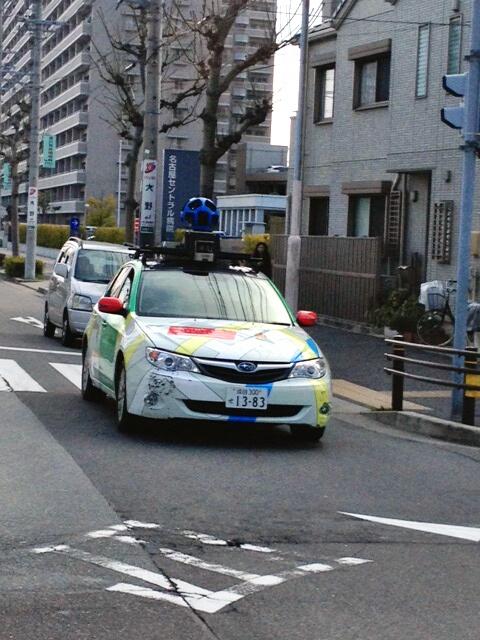 Googleカーが名古屋駅南付近を周回