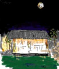 月と虫の音と温泉